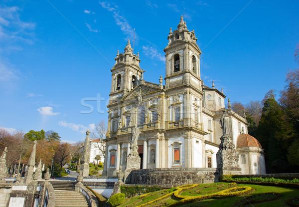 Basilica santuario bene Gesù montagna muro Foto d'archivio © neirfy