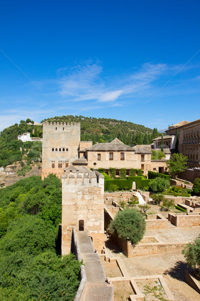fortress wall and Nasrid palace, Alhambra, Spain Stock photo © neirfy