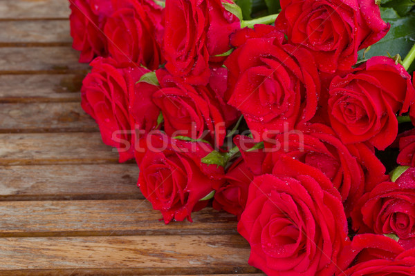 bouquet of red roses with water drops Stock photo © neirfy