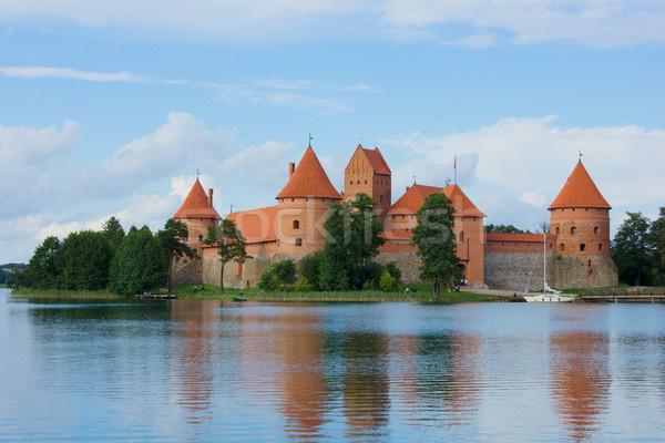 Tracai castle at Lithuania Stock photo © neirfy