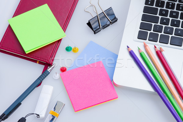 Set of office supply Stock photo © neirfy