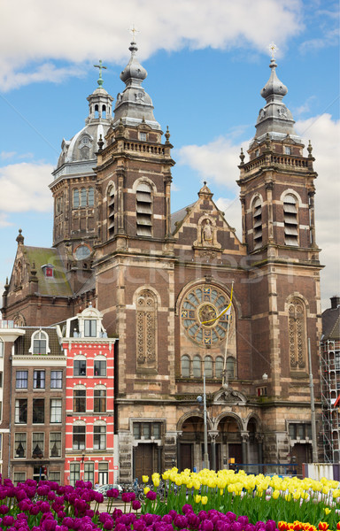 fasade of Church of St Nicholas,  Amsterdam Stock photo © neirfy