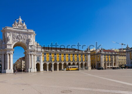 Stockfoto: Commerce · vierkante · Lissabon · Portugal · landschap · Blauw
