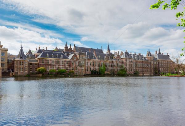 Holandês parlamento Holanda ver dia escritório Foto stock © neirfy