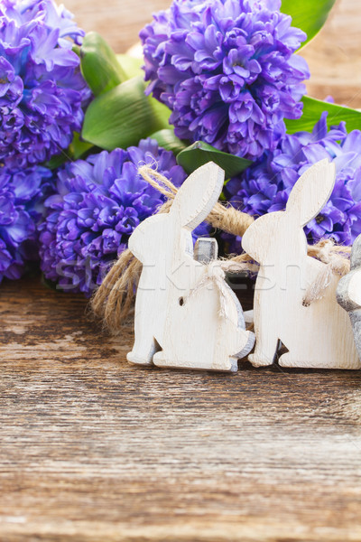 easter eggs with hyacinth Stock photo © neirfy