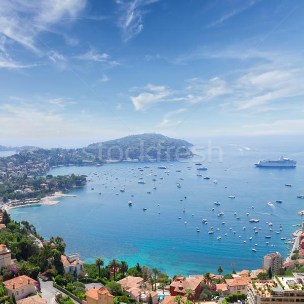 Francia paisaje costa agua cielo azul soleado Foto stock © neirfy
