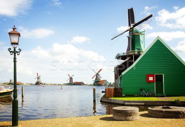 Holandês rio Holanda retro água Foto stock © neirfy
