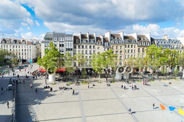 Piazza Parigi noto Francia costruzione panorama Foto d'archivio © neirfy