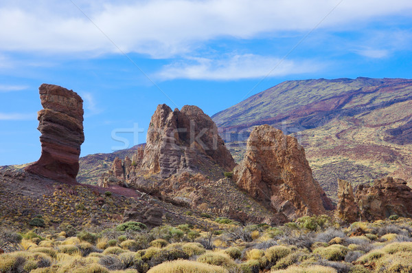Vallei tenerife Spanje rotsen berg groene Stockfoto © neirfy