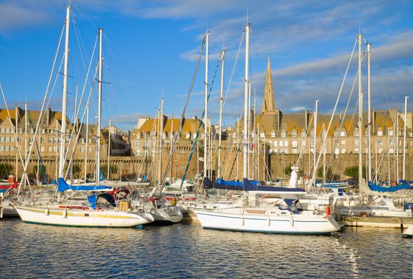 Saint Malo marina, France Stock photo © neirfy