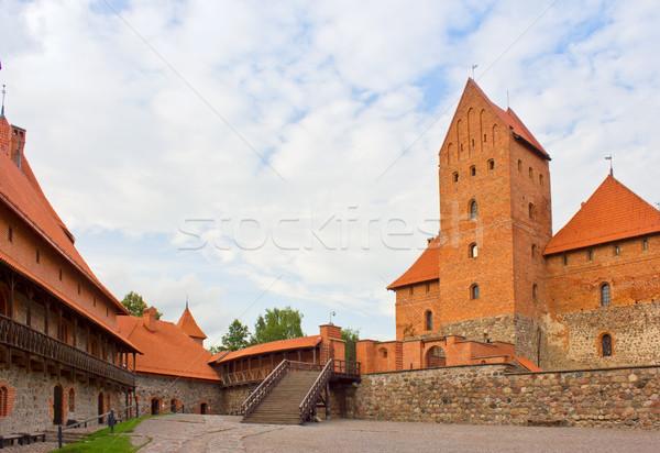 Photo stock: Château · Lituanie · vieux · médiévale · tour · Voyage