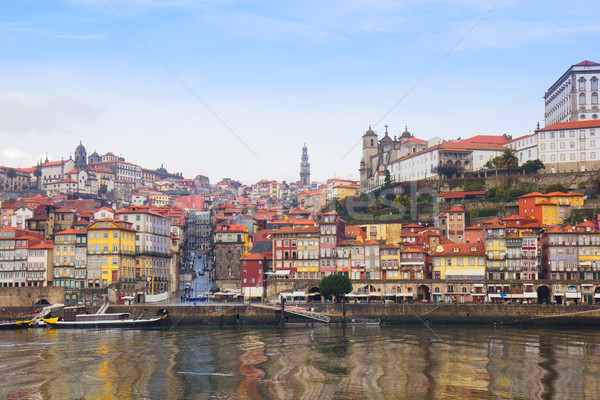 old  Oporto on Douro bank, Portugal Stock photo © neirfy