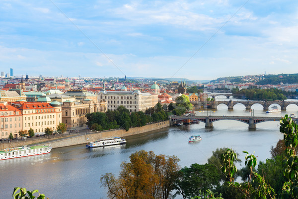 old town of Prague from above Stock photo © neirfy