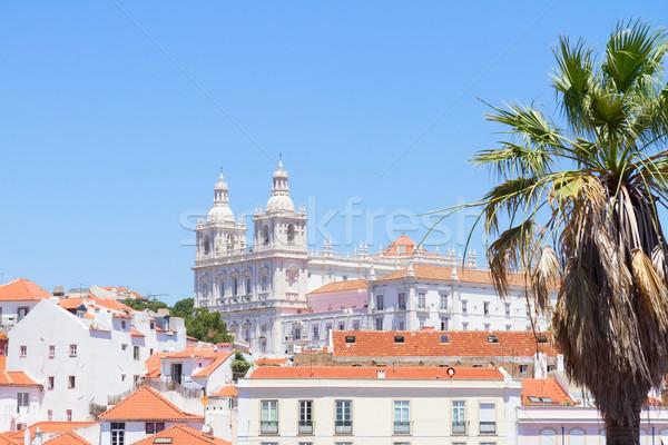 Paroquia de Sao Vicente de Fora, Lisbon, Portugal Stock photo © neirfy