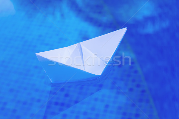 paper boat Stock photo © neirfy
