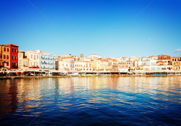 Velencei marina óváros napos idő retro égbolt Stock fotó © neirfy