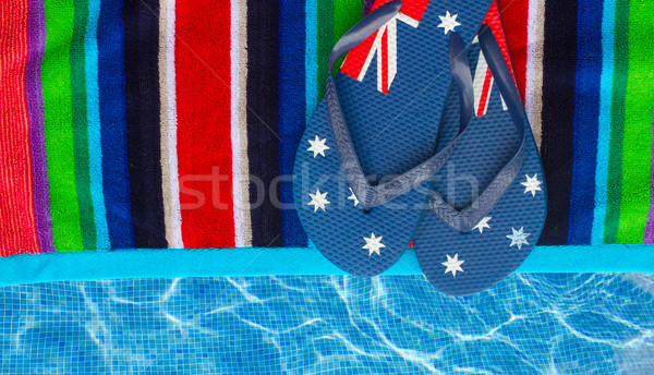 sandals  on towel Stock photo © neirfy