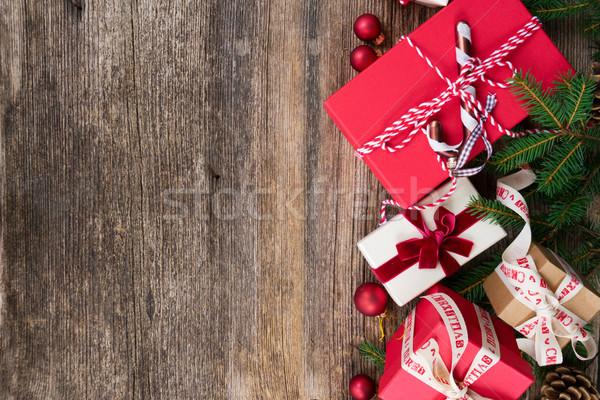 クリスマス ギフト プレゼント 赤 紙 ボックス ストックフォト © neirfy