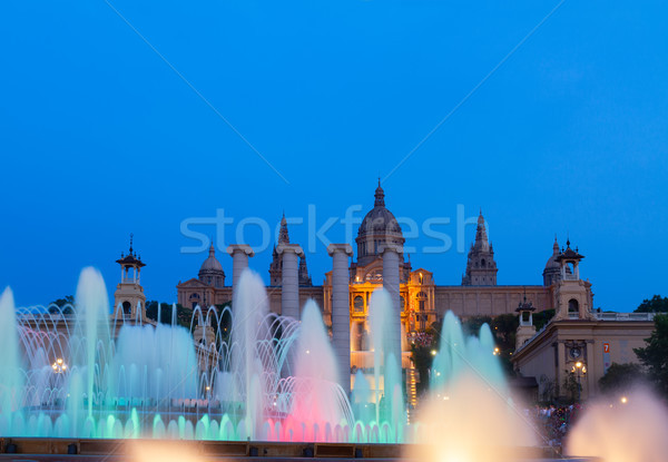 Magic Fountain light show, Barcelona Stock photo © neirfy
