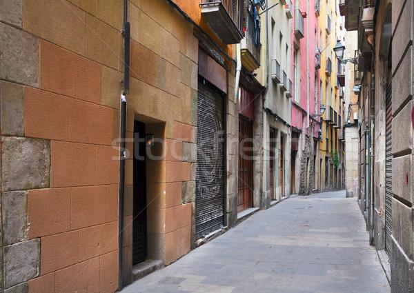 Trimestre Barcelone étroite rue Espagne ciel Photo stock © neirfy