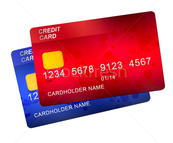 red and blue credit cards Stock photo © neirfy