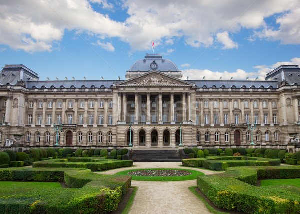 Facade of  Royal Palace in Brussels Stock photo © neirfy