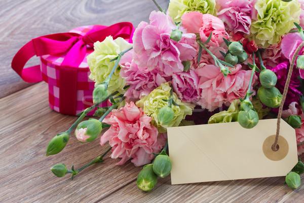 гвоздика цветы пусто тег Пасху Сток-фото © neirfy