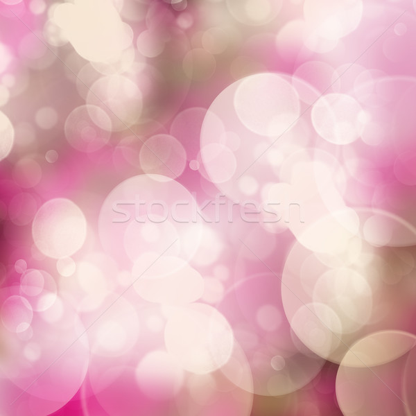 Mauve bokeh abstract bubbels ontwerp Blauw Stockfoto © neirfy