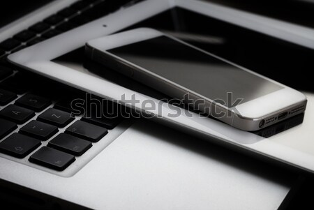 Stock photo: set of modern computer devices