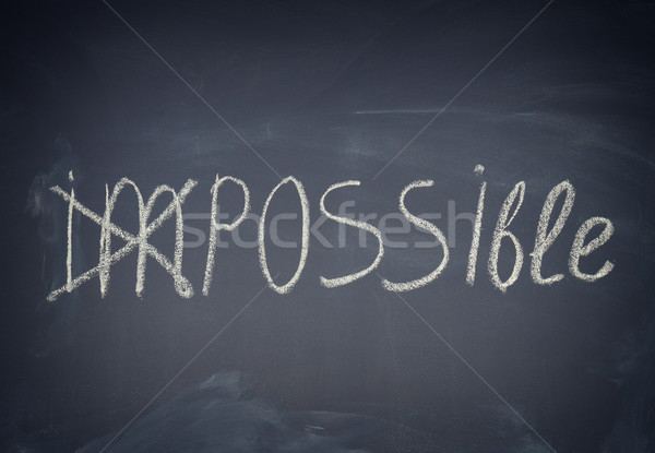 Impossible word turned into possilble Stock photo © neirfy