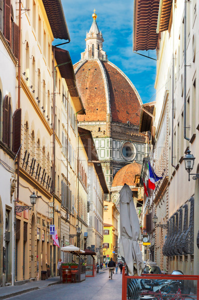 Stock photo: street in old town, Florence, Italy