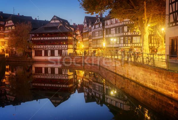 旧市街 フランス 中世 地区 1泊 水 ストックフォト © neirfy