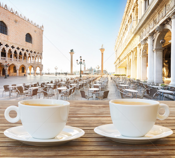 Cup of coffee in Venice Stock photo © neirfy