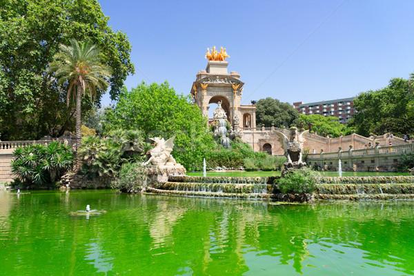 Parque Barcelona famoso la Espanha água Foto stock © neirfy
