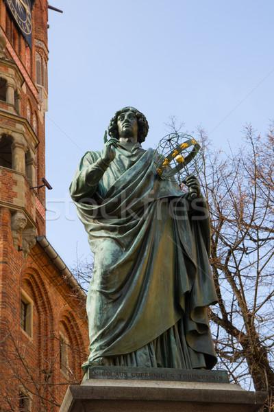 monument of great astronomer Nicolaus Copernicus Stock photo © neirfy