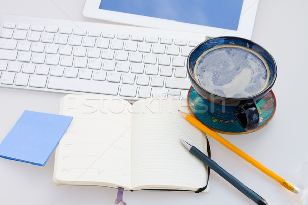 open note pad  on working table Stock photo © neirfy