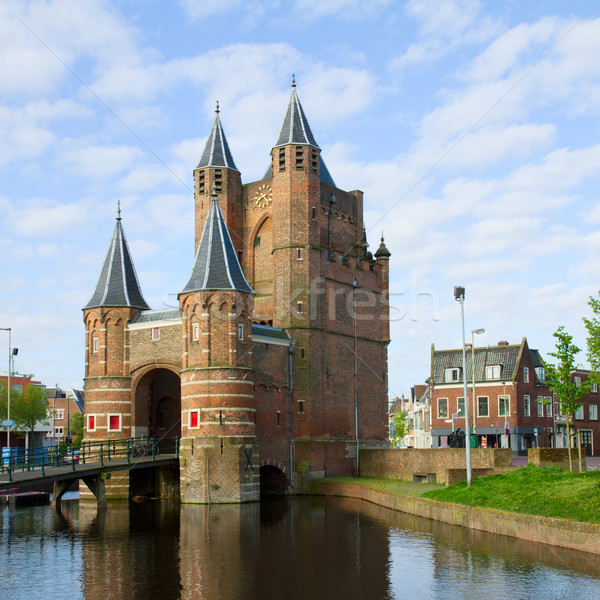 The Gate of Amsterdam, Haarlem, Holland Stock photo © neirfy