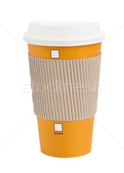 take away coffee in wrap Stock photo © neirfy