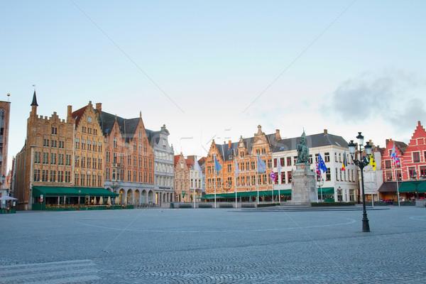Market Square, Bruges Stock photo © neirfy