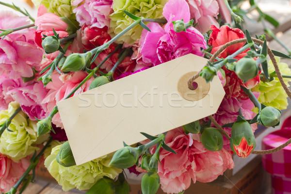 гвоздика цветы тег Пасху весны Сток-фото © neirfy
