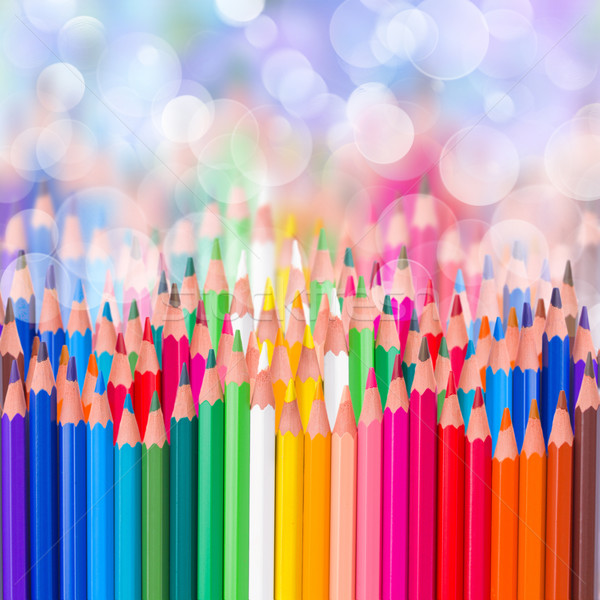 back to school colorful  pencils  border Stock photo © neirfy