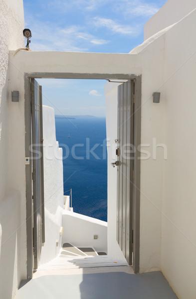 Belo detalhes santorini ilha Grécia abrir Foto stock © neirfy