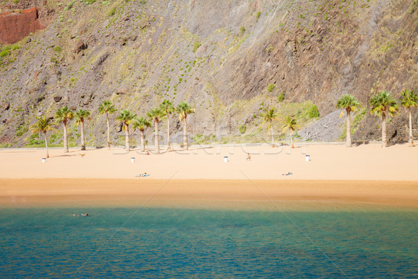beach Las Teresitas, Tenerife, Spain Stock photo © neirfy