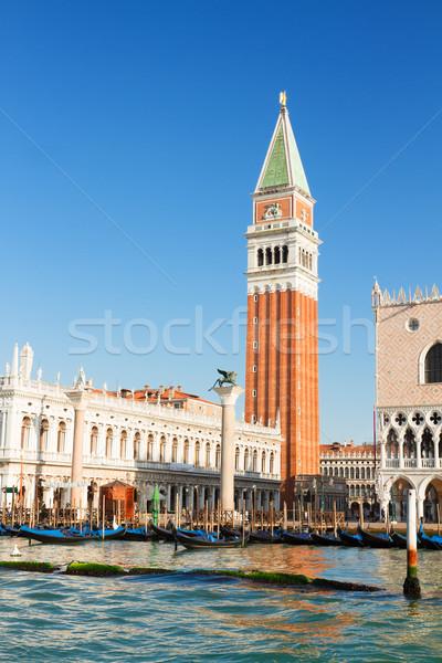 Carré bord de l'eau Venise ensoleillée été jour Photo stock © neirfy