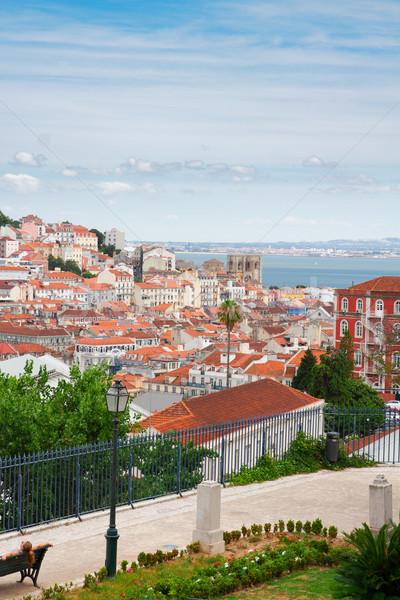 Skyline Lisbonne Portugal rivière ville Photo stock © neirfy