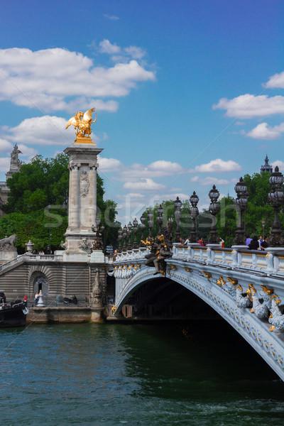 Bridge of Alexandre III in Paris, France Stock photo © neirfy