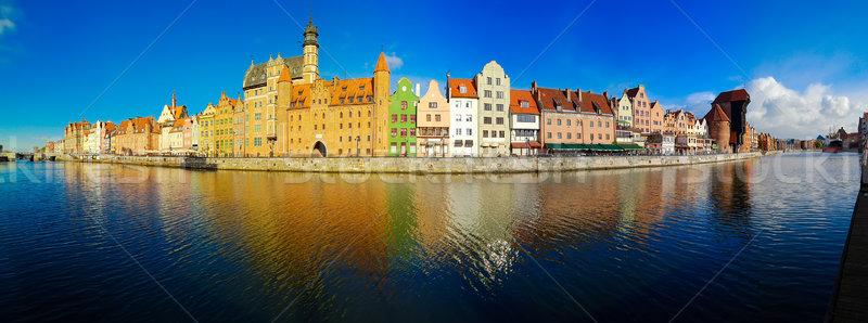 Danzica città vecchia panorama colorato gothic vecchio Foto d'archivio © neirfy