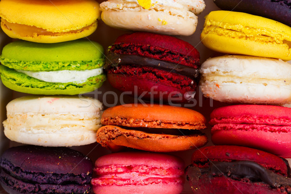 Macaroons cookies on pink Stock photo © neirfy