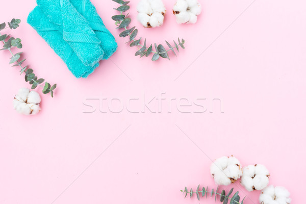 Beauty background with cotton buds Stock photo © neirfy