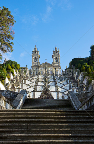 Portuguese sanctuary 'Bom Jesus do Monte' Stock photo © neirfy